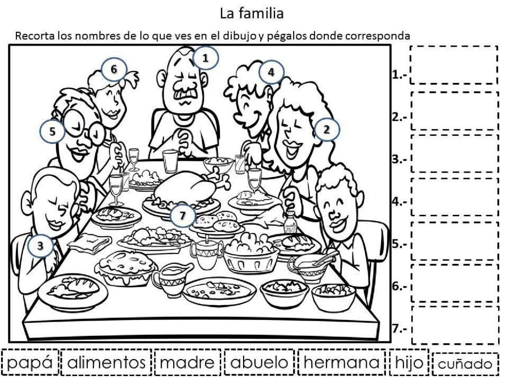 La familia - Problemas con lectoescritura