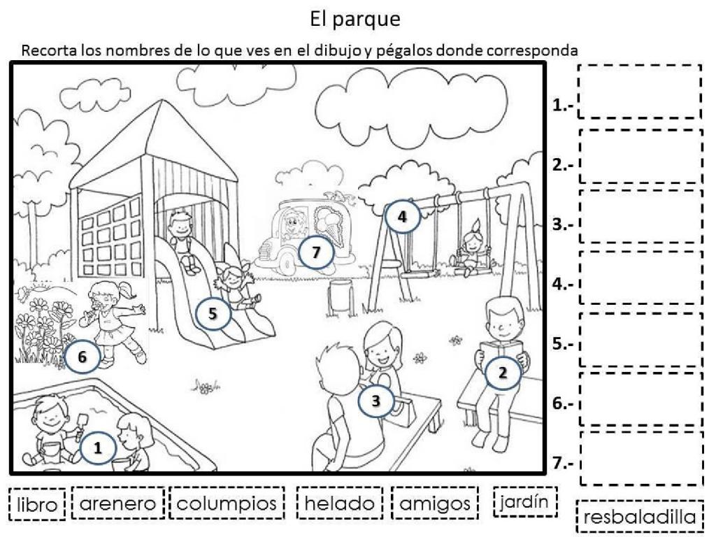 El parque - Problemas con lectoescritura