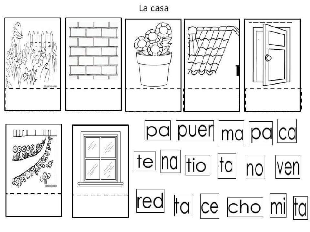 La casa - Problemas con lectoescritura