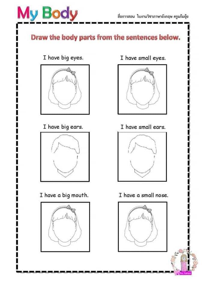 Partes del cuerpo en Inglés para niños 8